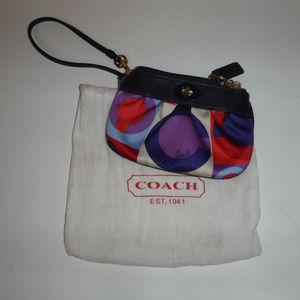 Coach C's Satin Wristlet